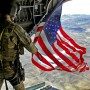 'Old Glory' soars downrange for service members